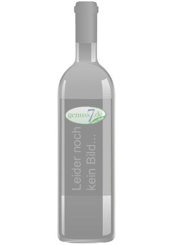 Eine Flasche Champagner mit 2 Gläsern in der Box