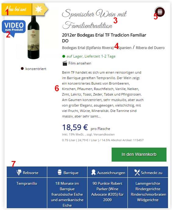 Informationen zum Wein kaufen